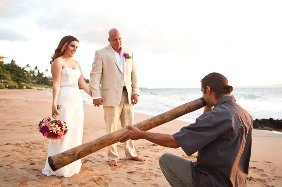 Maui Weddings Didgeridoo Player